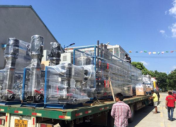 锂电池厂超纯水设备装车出货